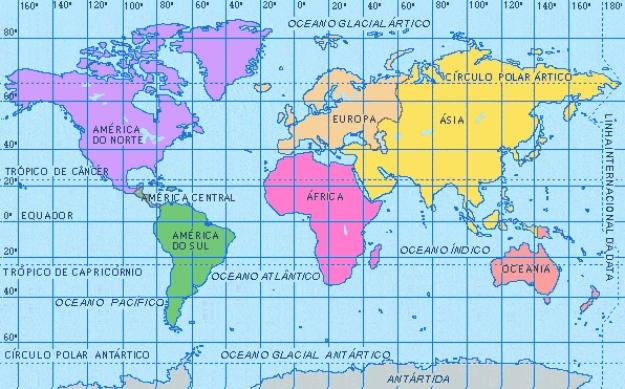 Primer Mapamundi Para Colorear